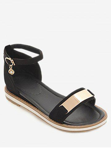 Shop Plus Size Holiday Ankle Strap Low Heel Sandals