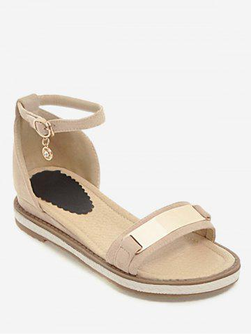 Best Plus Size Holiday Ankle Strap Low Heel Sandals