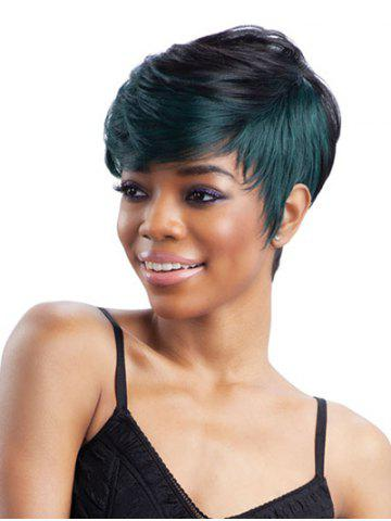 Discount Short Side Bang Straight Colormix Synthetic Wig