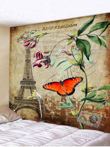 Sale Wall Hanging Art Retro Butterfly Stamp Print Tapestry