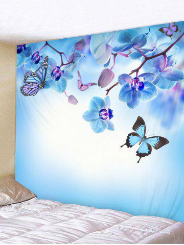 Affordable Wall Hanging Art Butterfly and Flowers Print Tapestry