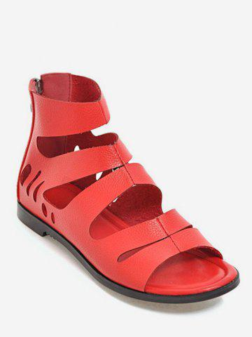 Store Plus Size Hollow Out Leisure PU Leather Outdoor Sandals