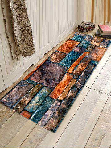 Trendy Stone Wall Pattern Water Absorption Area Rug