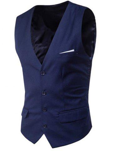 Trendy Modern Solid Color Fit Suit Separates Vest
