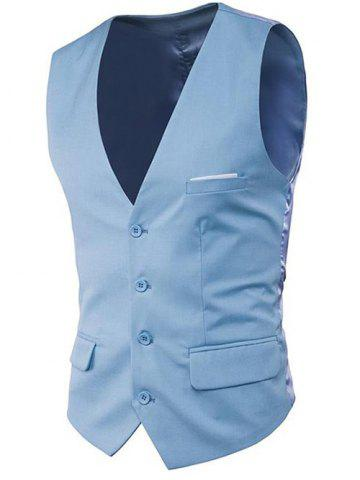 Unique Modern Solid Color Fit Suit Separates Vest