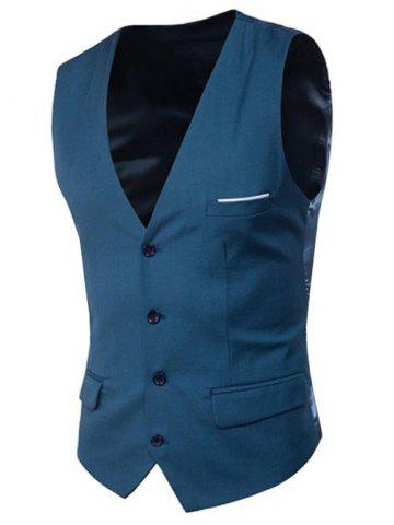 Sale Modern Solid Color Fit Suit Separates Vest
