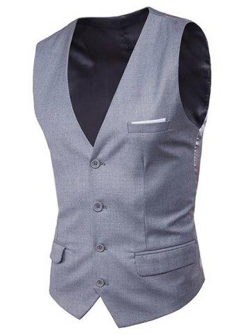 Fancy Modern Solid Color Fit Suit Separates Vest