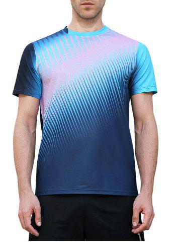 Discount Triangle Print Fast Dry Breathable Activewear T-shirt