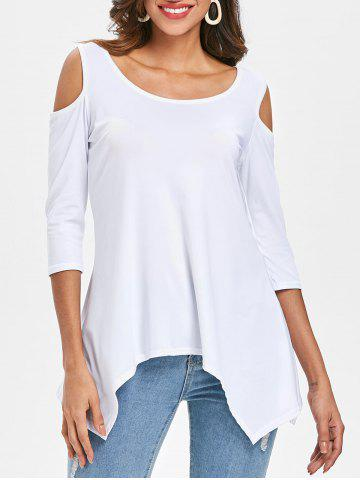 New Cold Shoulder Asymmetrical T-shirt