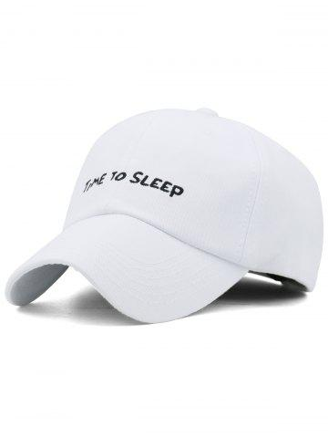 Chic Time To Sleep Embroidery Adjustable Graphic Hat