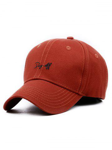 Sale Day Off Embroidery Adjustable Baseball Hat