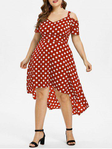 Buy Plus Size Polka Dot High Low Dress