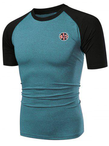 Hot Fast Dry Applique Contrast Color Breathable Activewear T-shirt