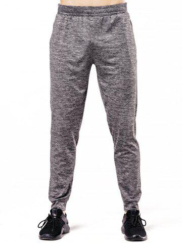 Sale Elastic Waistband Zipper Pocket Jogger Pants