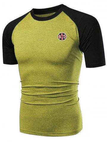 Fast Dry Applique Contrast Color Breathable Activewear T-shirt