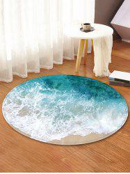 Beach Wave Pattern Anti-skid Round Floor Rug -