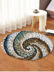 Pebbles Vortex Pattern Anti-skid Round Floor Rug -