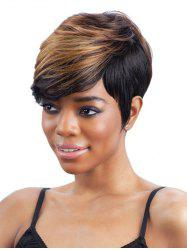 Perruque Synthétique Colormix Straight Side Bang droite -