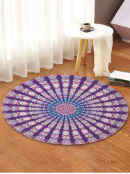 Peacock Feather Pattern Decorative Floor Rugs -