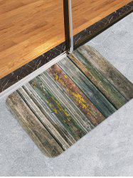 Old Wood Flooring Pattern Water Absorption Area Rug -