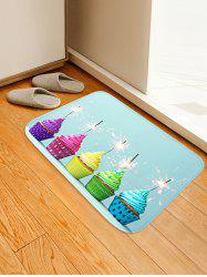 Cake Firework Pattern Water Absorption Area Rug -