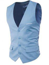 Modern Solid Color Fit Suit Separates Vest -