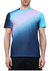 Triangle Print Fast Dry Breathable Activewear T-shirt -
