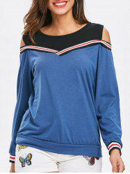 Long Sleeve Cold Shoulder Sweatshirt -