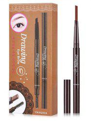 Beauty Double Ended Long Lasting Waterproof Rotate Eyebrow Pencil -