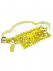 Vintage Rhinestone Bowknot Jelly Color Fanny Pack Belt Bag -