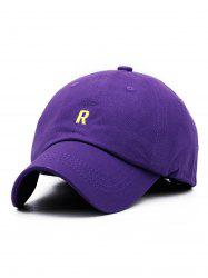 Letter R Embroidery Adjustable Baseball Hat -