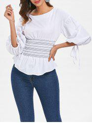 Bubble Sleeve Smocked Top -