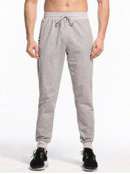 Elastic Drawstring Waist Two-pocket Jogger Pants -