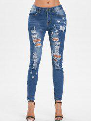 High Waist Ripped Jeans -