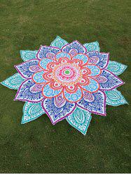 Multicolor Indian Mandala Paisley Lotus Shape Beach Throw -