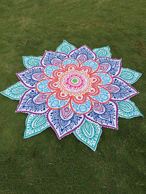 Hot Multicolor Indian Mandala Paisley Lotus Shape Beach Throw