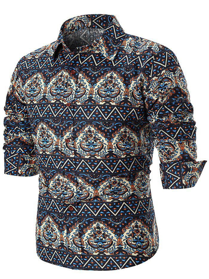 Outfits Ethnic Style Tribal Print Long Sleeve Shirt