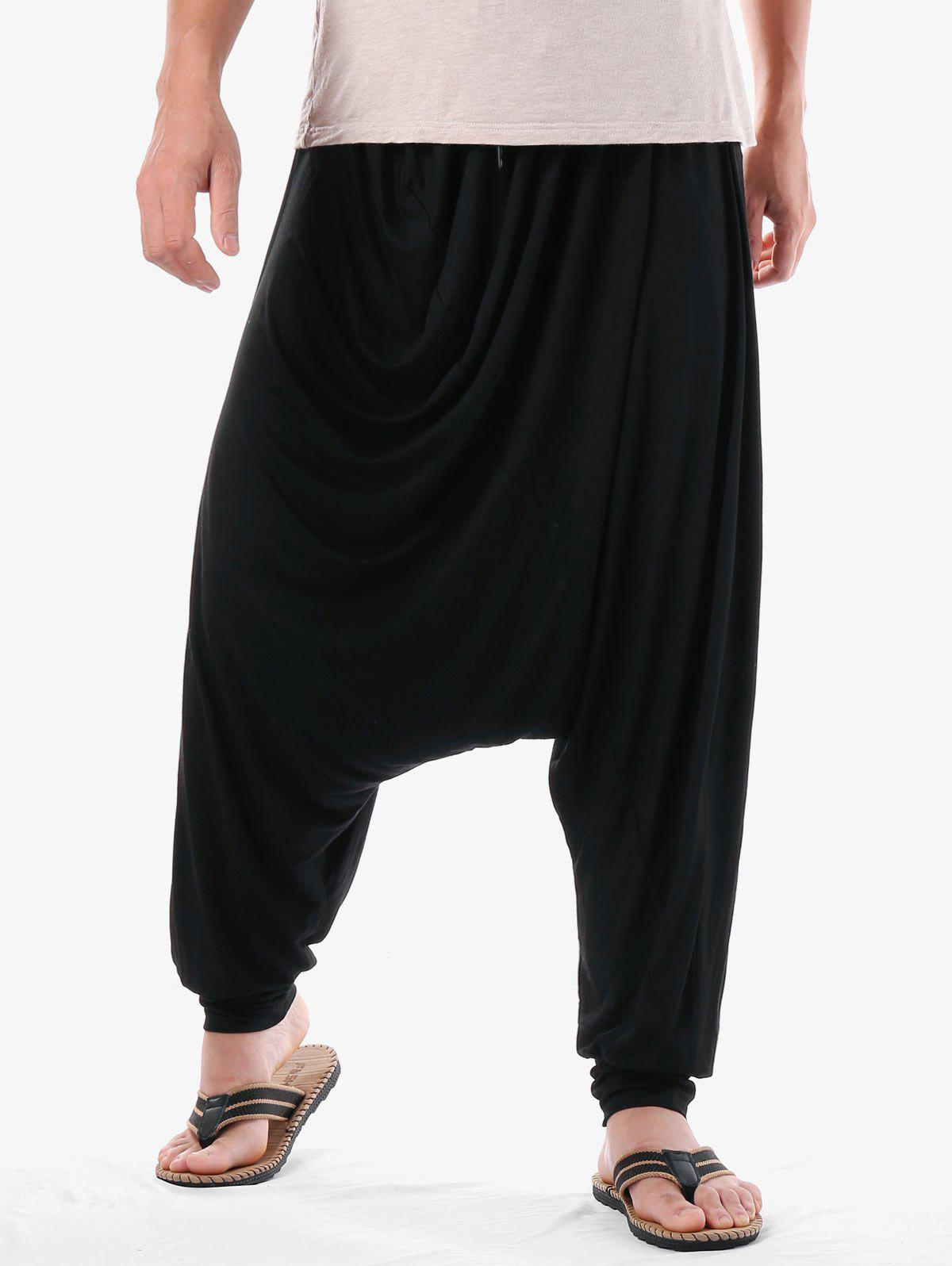 Hot Narrow Feet Solid Color Harem Pants