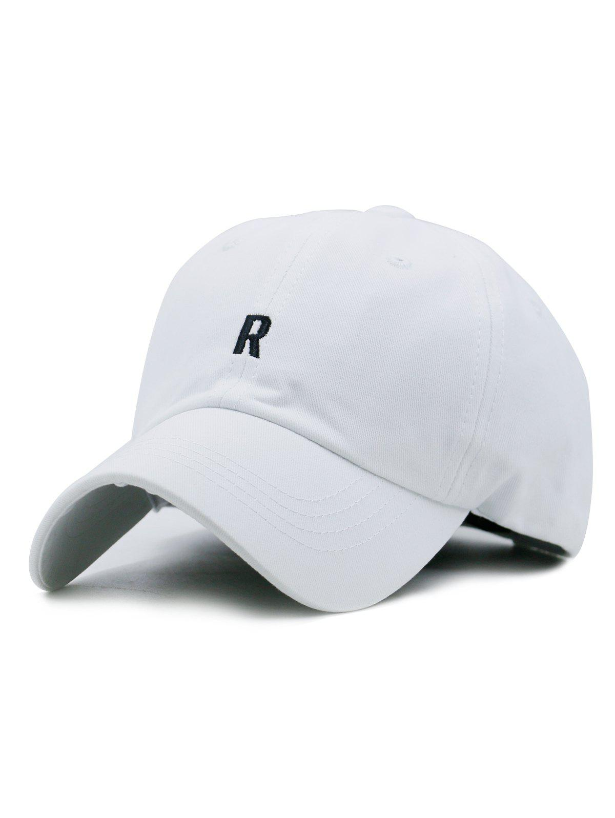 Store Letter R Embroidery Adjustable Baseball Hat