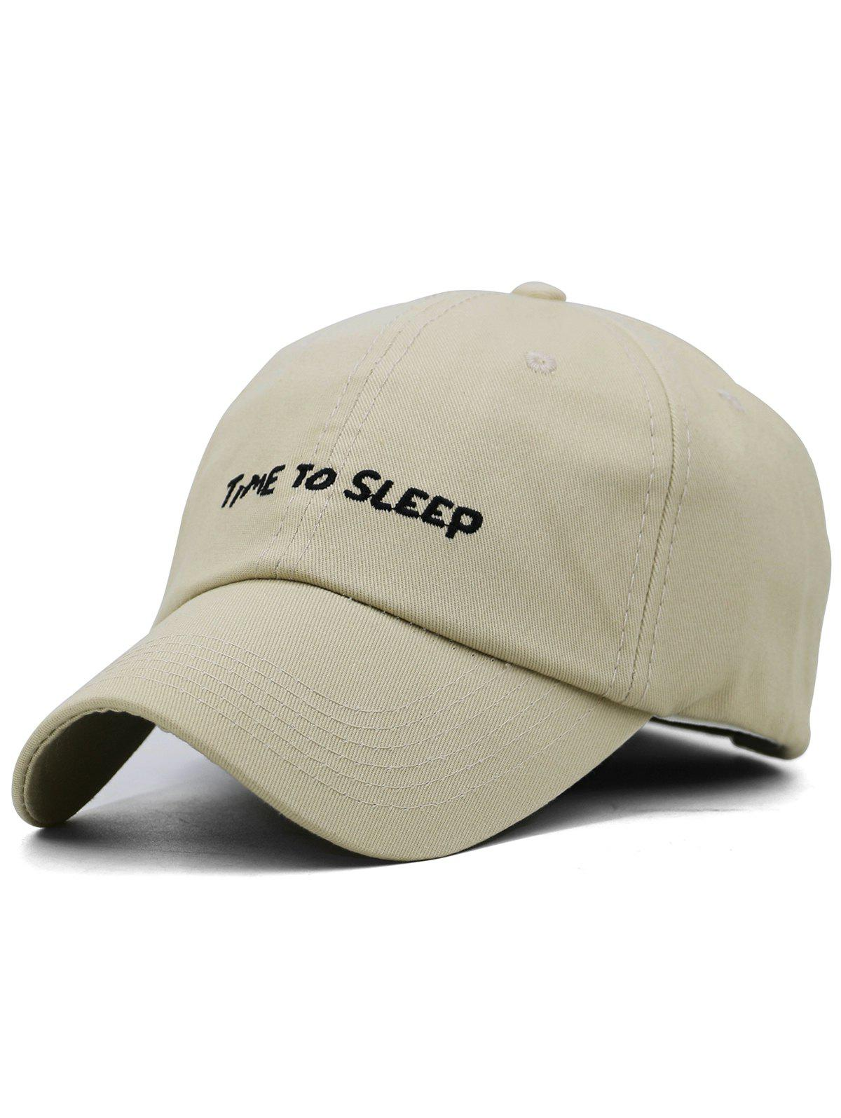 Discount Time To Sleep Embroidery Adjustable Graphic Hat
