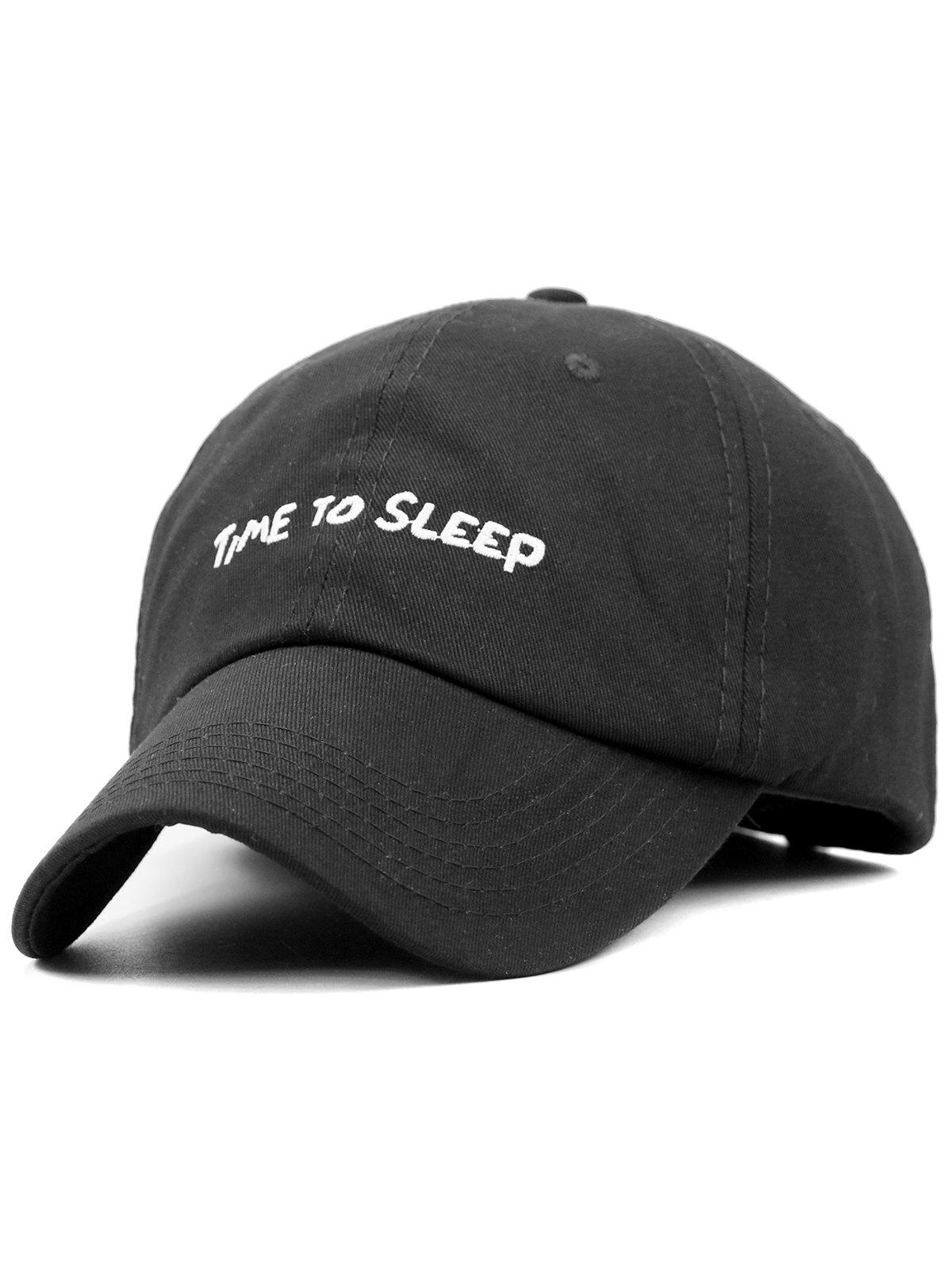 Outfit Time To Sleep Embroidery Adjustable Graphic Hat