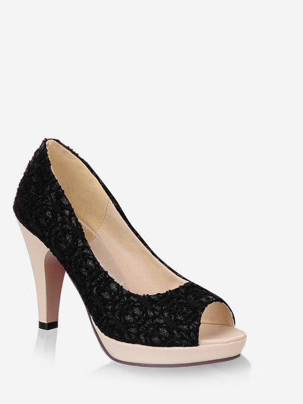 Chic Plus Size High Heel Chic Peep Toe Prom Pumps