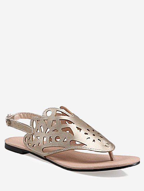 Outfit Plus Size Leisure Hollow Out Slingback Thong Sandals