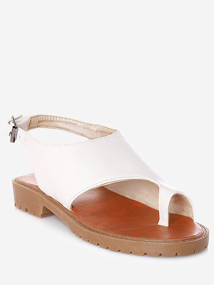 Outfit Plus Size Faux Leather Leisure Slingback Thong Sandals
