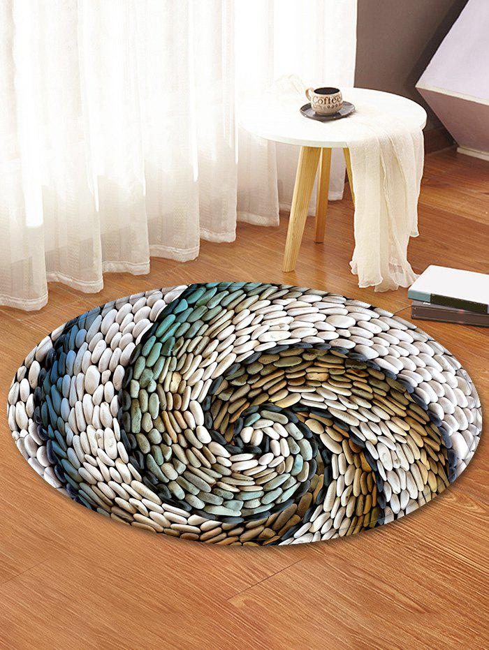 Cheap Pebbles Vortex Pattern Anti-skid Round Floor Rug