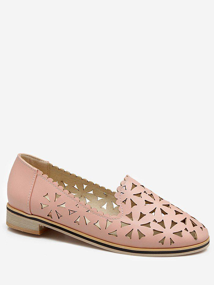 Shops Plus Size Slip On Laser Cut Out Scallop Loafers