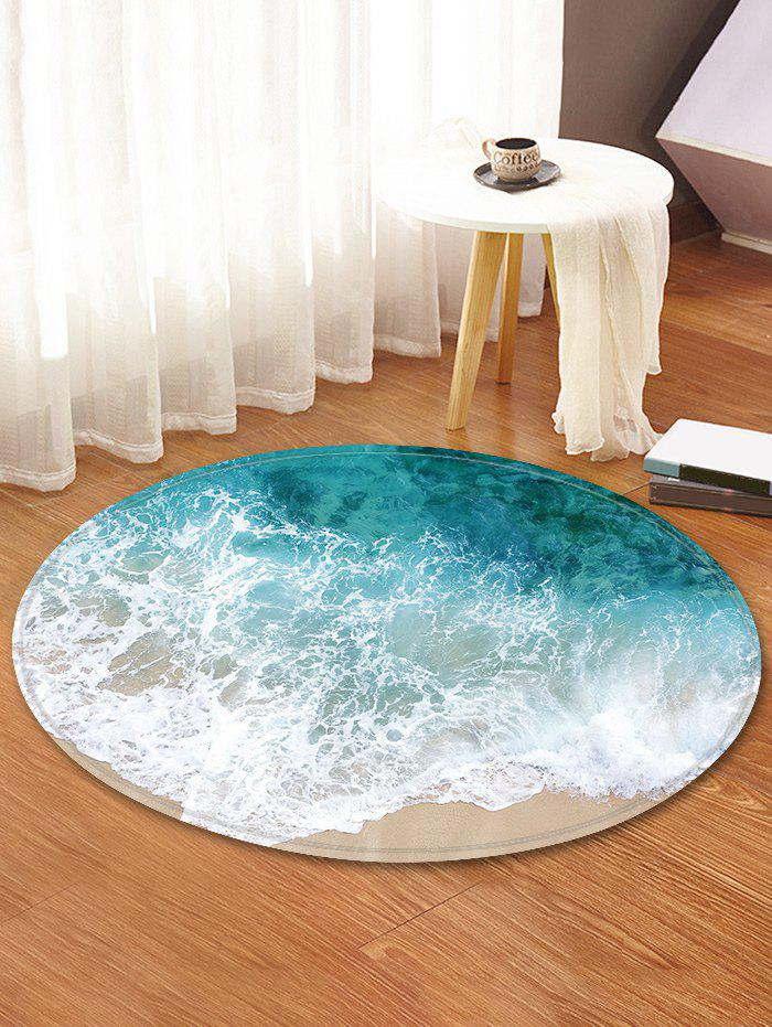New Beach Wave Pattern Anti-skid Round Floor Rug