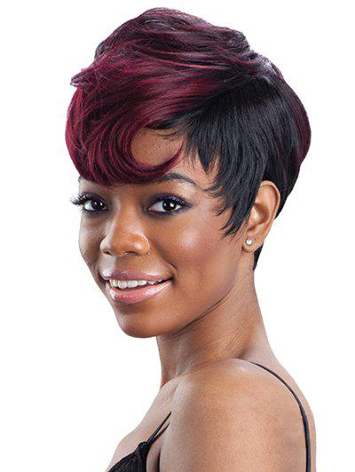 Online Short Side Bang Straight Colormix Synthetic Wig