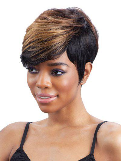 Outfits Short Side Bang Straight Colormix Synthetic Wig