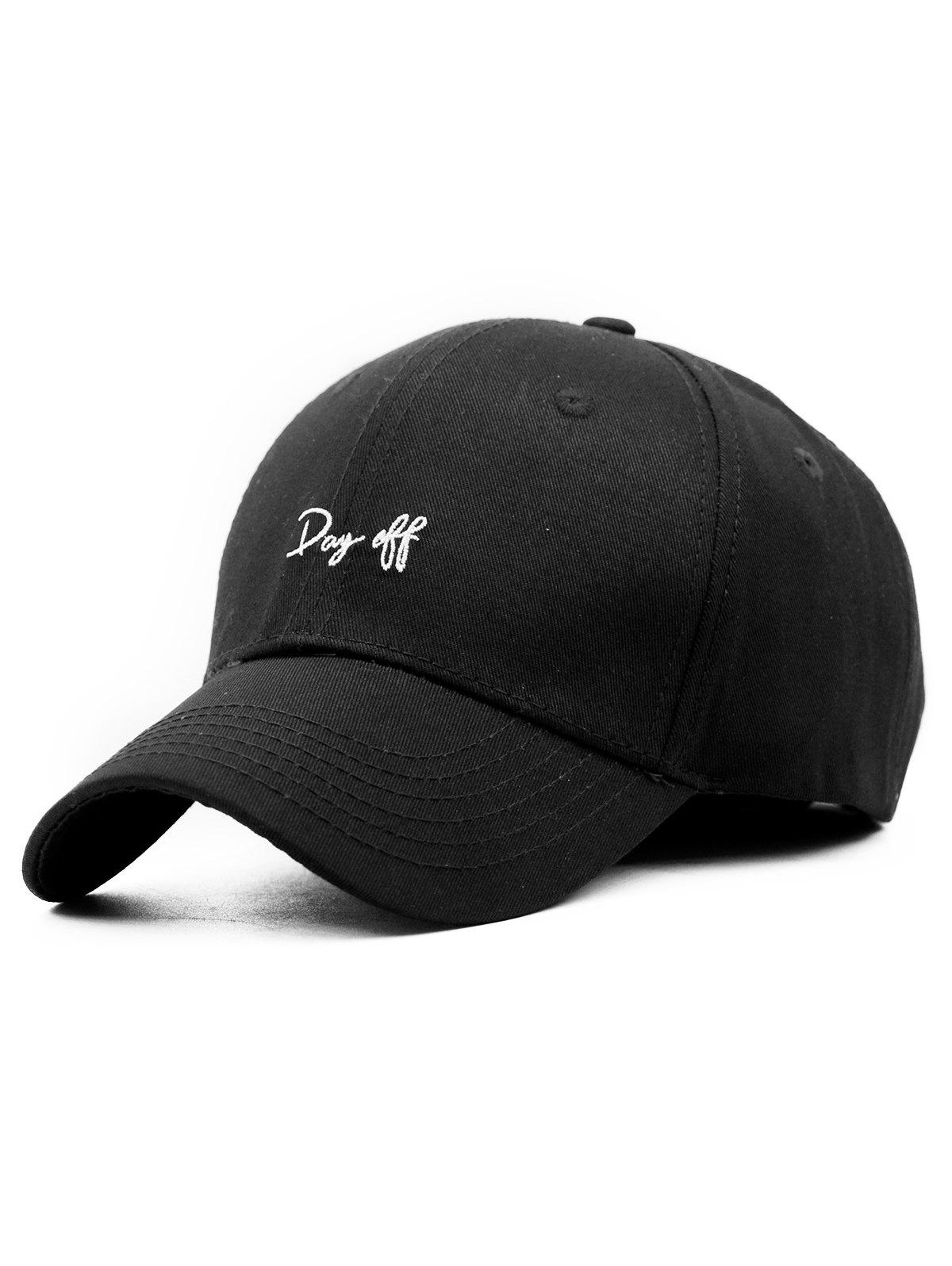 Fashion Day Off Embroidery Adjustable Baseball Hat